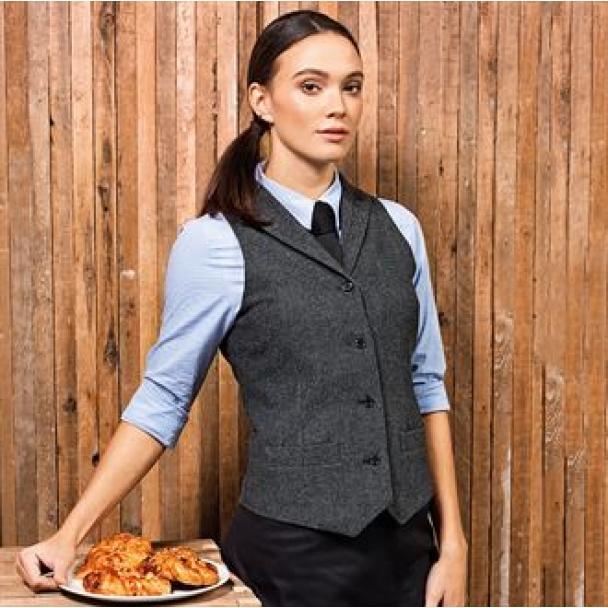 Women's herringbone waistcoat