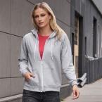Anvil women's full-zip hooded sweatshirt
