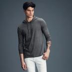 Anvil adult fashion basic long sleeve hooded tee