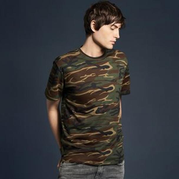 Anvil heavy camouflage tee
