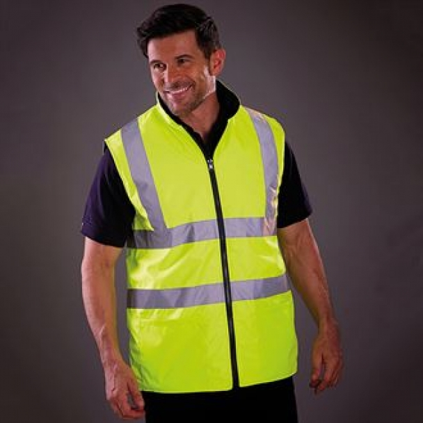 Hi-vis reversible fleece bodywarmer (HV008F)