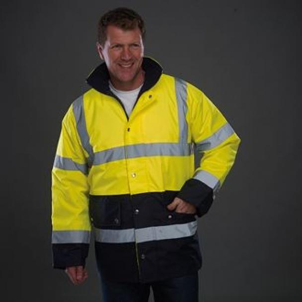 Hi-vis two-tone motorway jacket (HVP302)