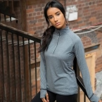 Women's long sleeve ¼ zip top