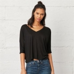 Flowy v–neck crop t-shirt