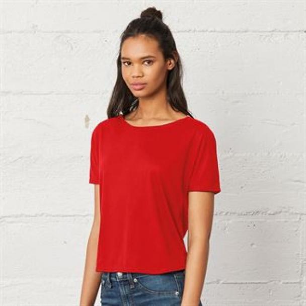 Flowy open-back t-shirt