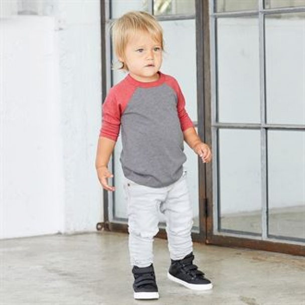 Toddler ¾ sleeve baseball tee