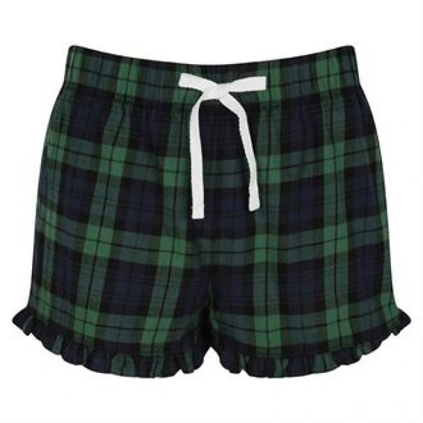 Women's tartan frill shorts