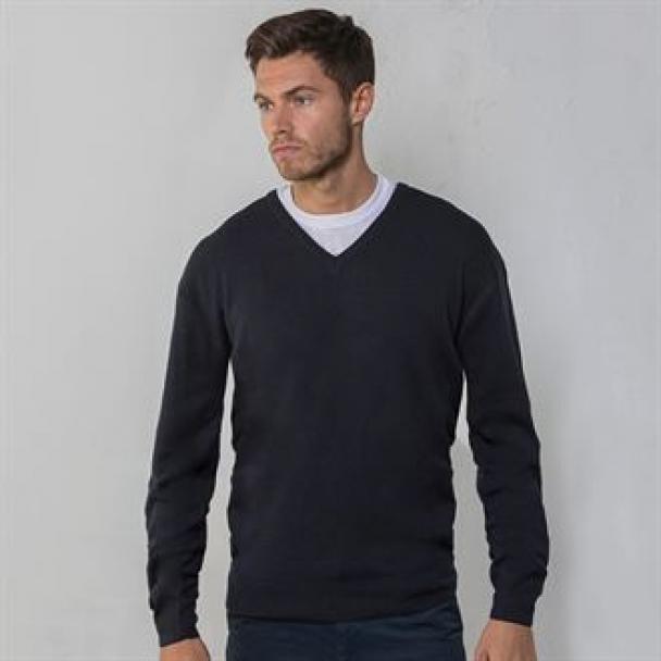 V-neck arcylic wool sweater