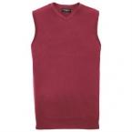 V-neck sleeveless knitted sweater
