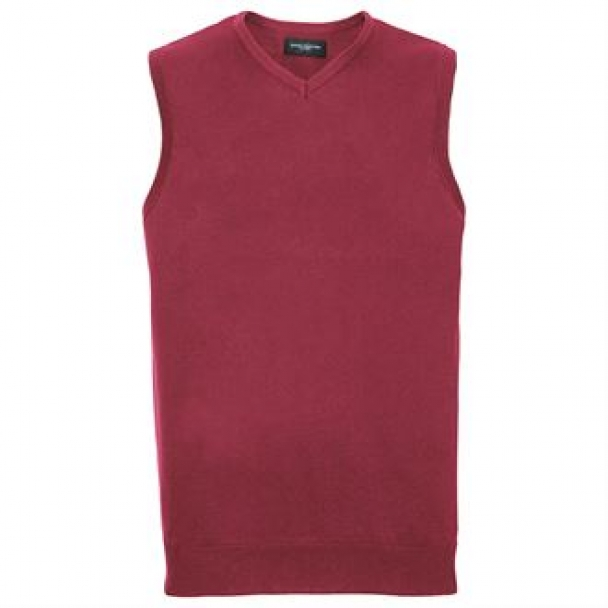 V-neck sleeveless knitted sweater