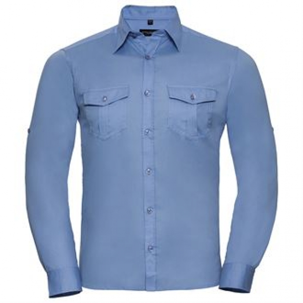 Roll-sleeve shirt long sleeve