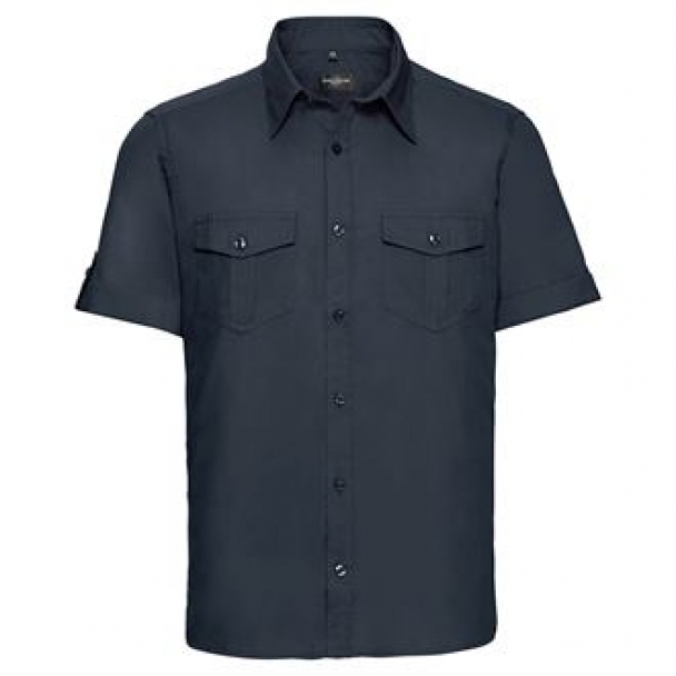 Roll-sleeve shirt short sleeve