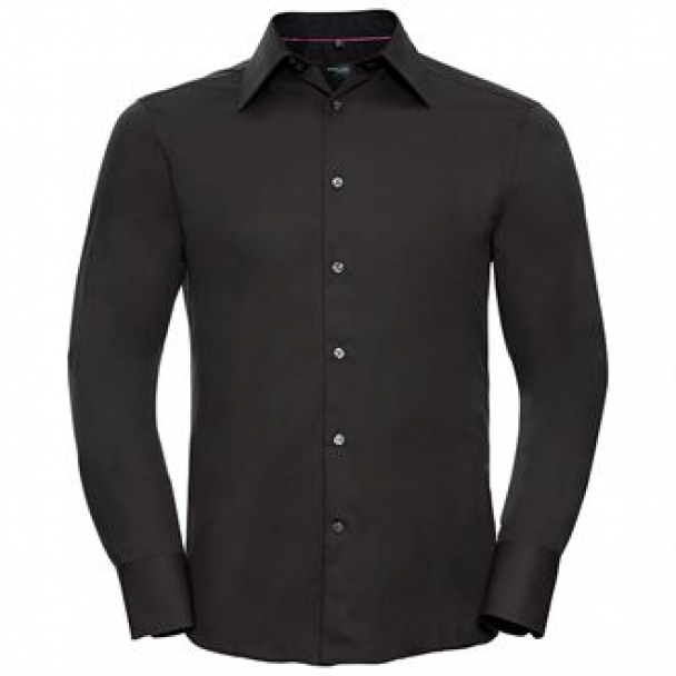 Long sleeve Tencel® fitted shirt