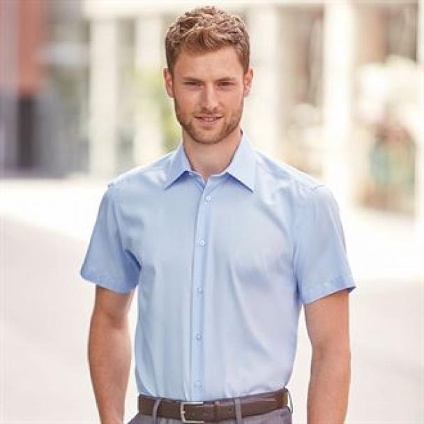 Short sleeve tailored ultimate non-iron shirt