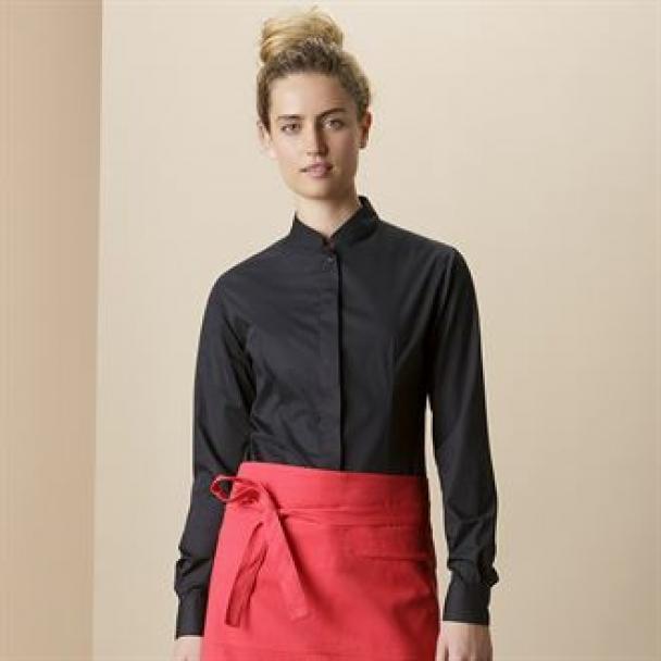 Women's bar shirt mandarin collar long sleeve