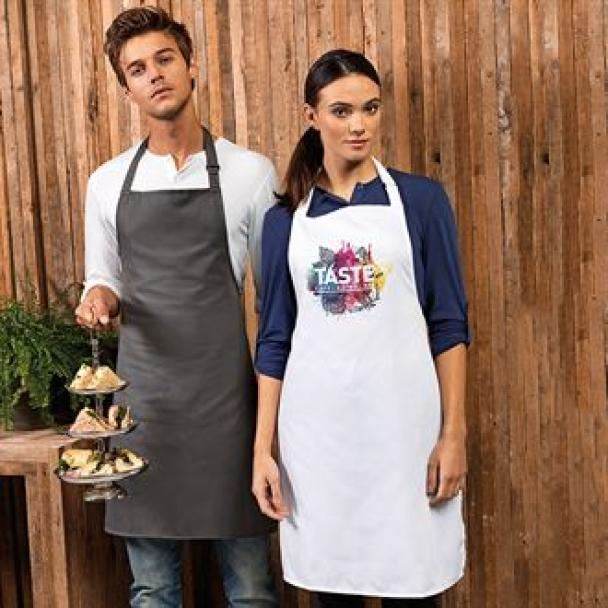 100% Polyester bib apron
