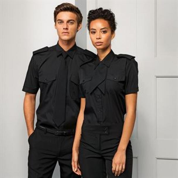 Short sleeve pilot shirt