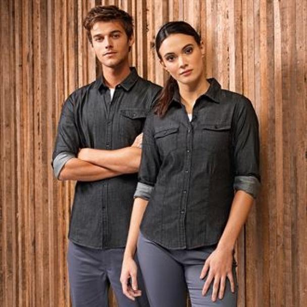 Jeans stitch denim shirt