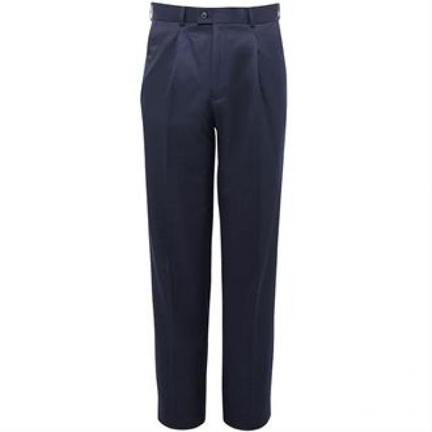 Delta single pleat trousers