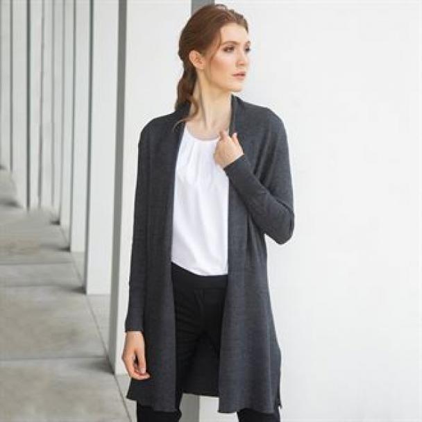 Women's longline open cardigan
