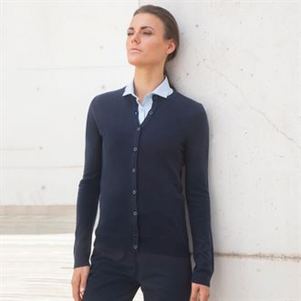 Women's cashmere touch crew neck cardigan