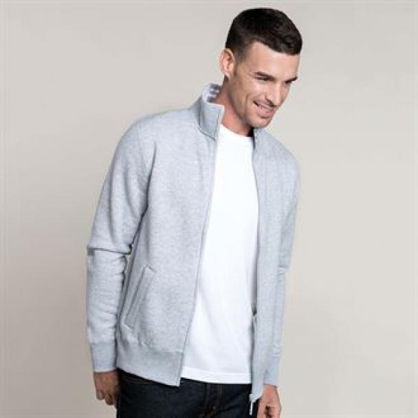 Full-zip fleece jacket