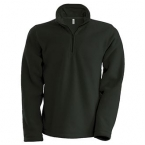 Enzo zip-neck microfleece top