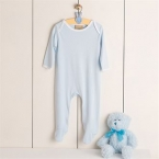 Contrast long sleeve sleepsuit