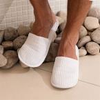 Waffle mule slippers