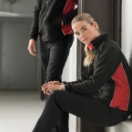 Women's piped microfleece jacket