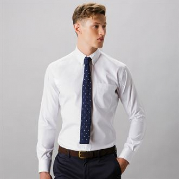Slim fit premium Oxford shirt long sleeve