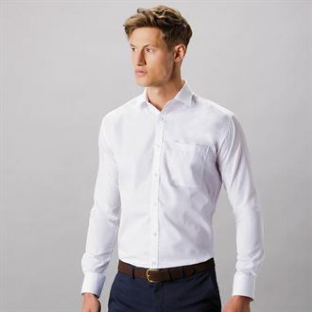 Premium non-iron slim fit shirt long sleeved