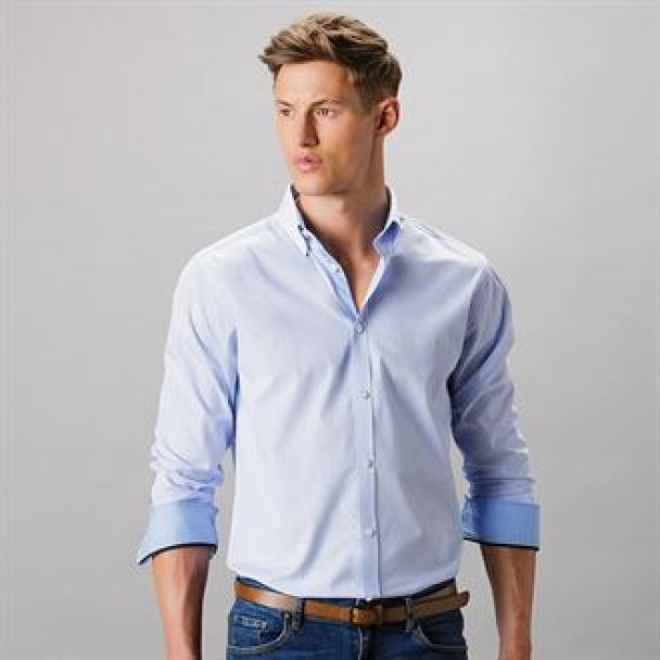 Clayton & Ford micro check shirt long sleeve