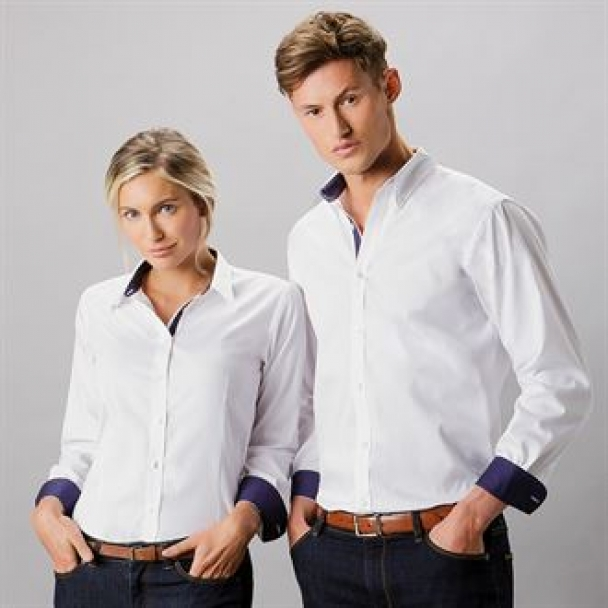 Contrast premium Oxford shirt (button-down collar) long sleeve