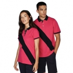 Diagonal stripe piqué polo shirt - tag-free