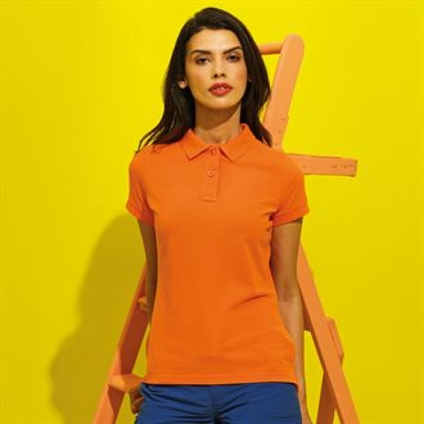 Women's poly/cotton blend polo