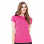 Baby rib short sleeve crew neck t-shirt