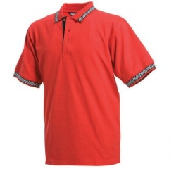 Chequered flag polo