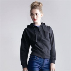 Women's zip through hoodie jacket