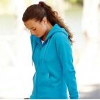 Premium 70/30 lady-fit hooded sweat jacket