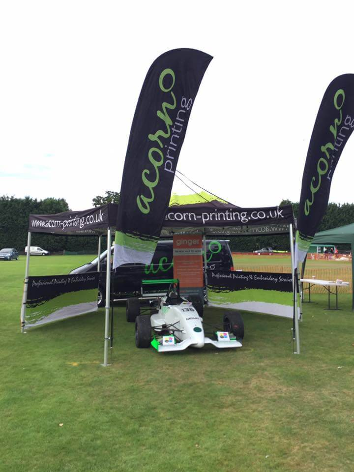 Printed signs and banners at Balsall Common Festival