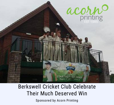 Berkswell cricket team celebrating their win