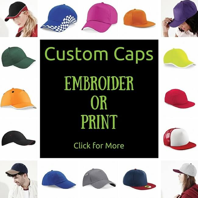 custom caps embroidered