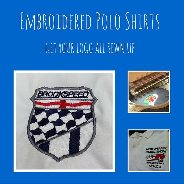 embroidered polo shirt logo