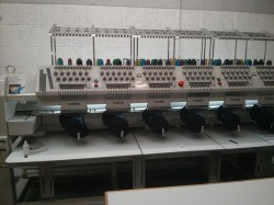 Acorn has sophisticated embroidery equipment that delivers high quality, fast