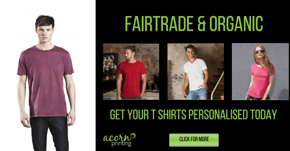 personalised Fair Trade and Organic T-Shirts banner