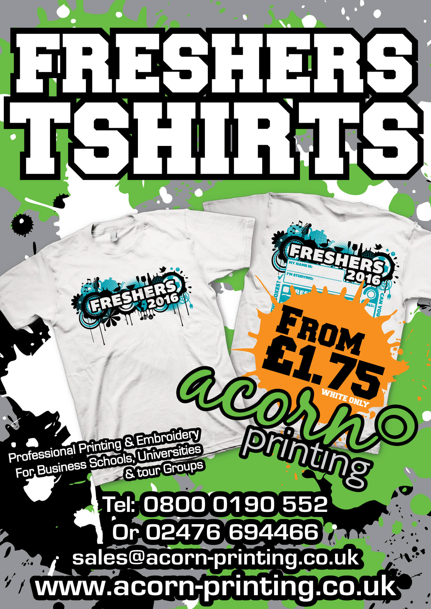 Discount freshers t-shirts printed