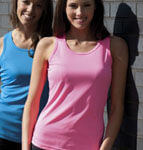 Girlie cool wicking vest - ideal for charity runs