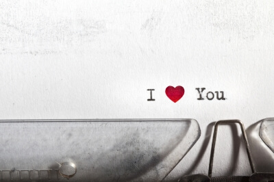 I heart you - personalised hoodies for romantics and football fans