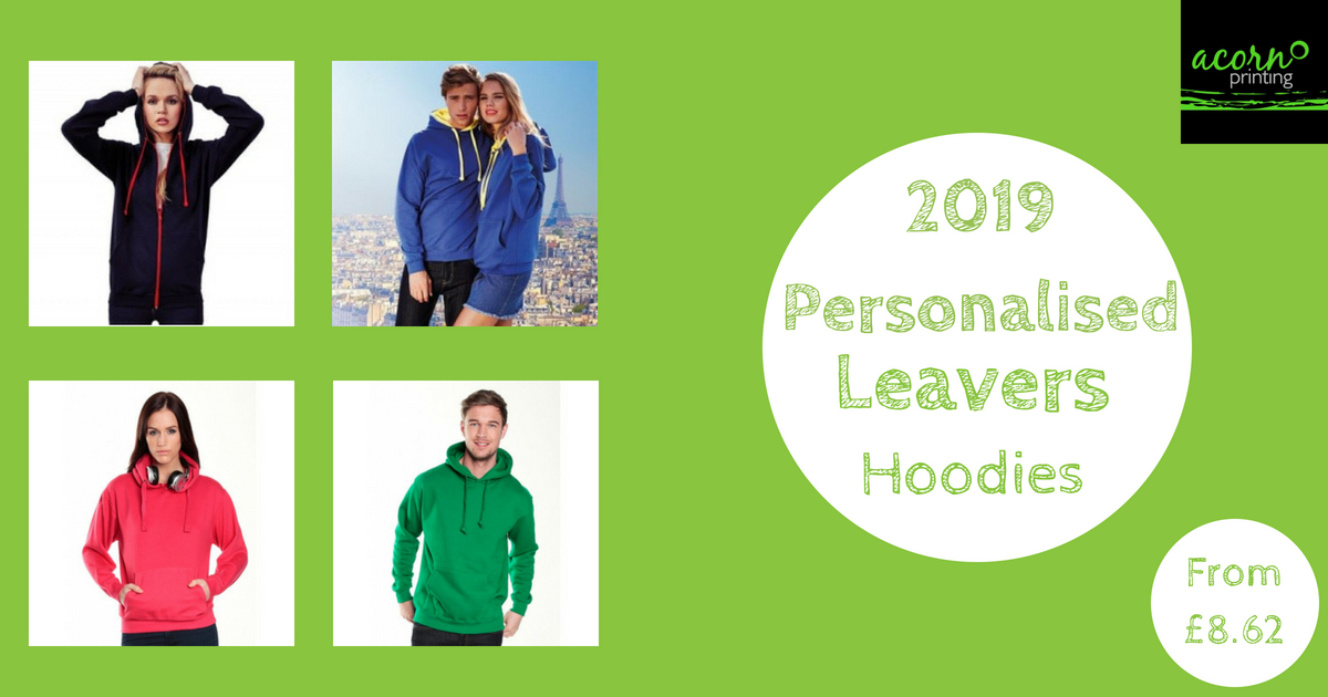 Personalised 2019 Leavers Hoodies
